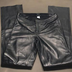 NWOT Body by Victoria Christie Fit Leather Pants